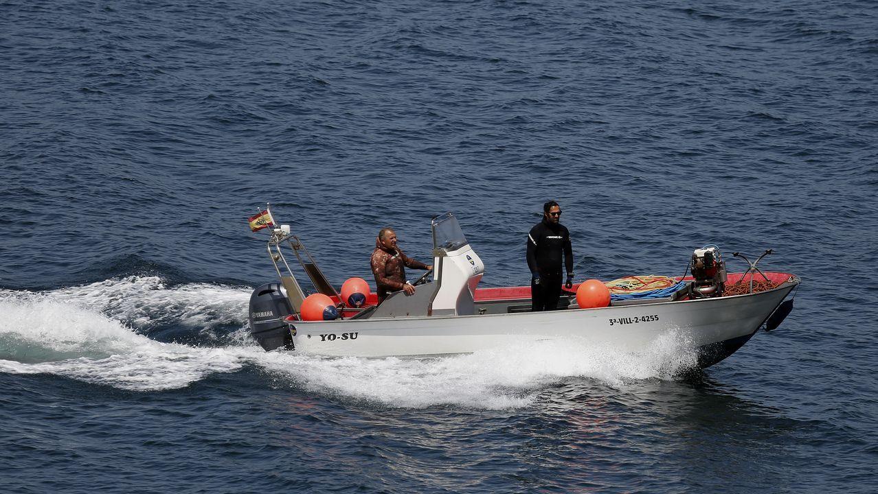 Los navalleiros sonenses volvieron a apoyar a los equipos de buzos del Geas y de Salvamento Marítimo