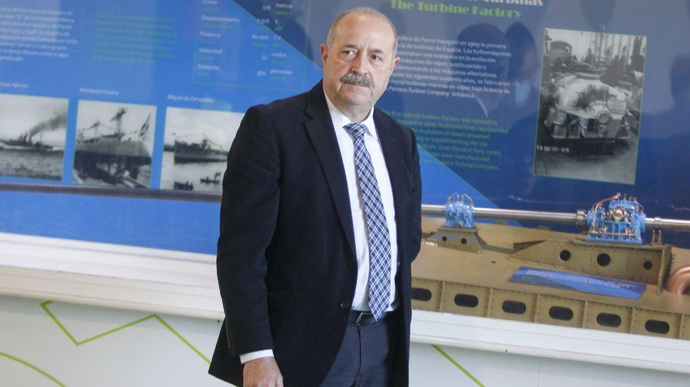 Andrés Cachaza, director de la fábrica de Turbinas