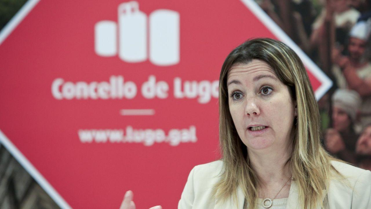 La manifestación celebrada este lunes en Lugo