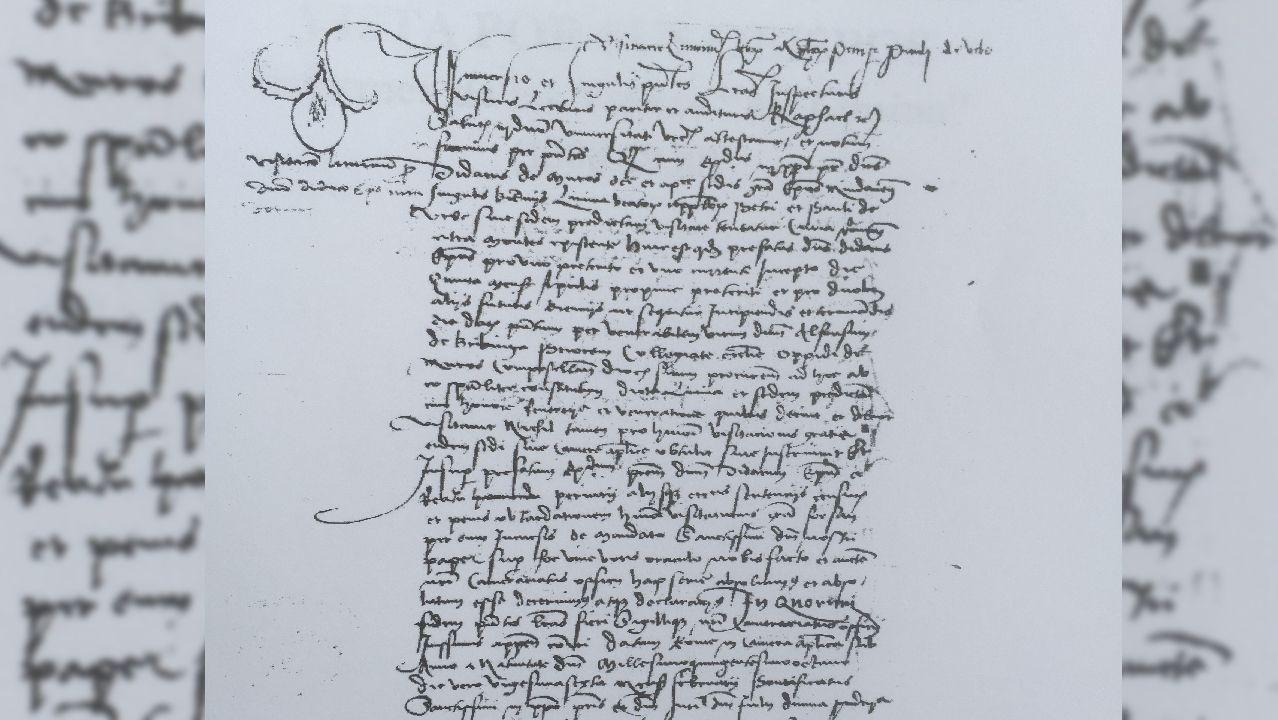 Nota de la visita del obispo Diego de Muros, de 1508