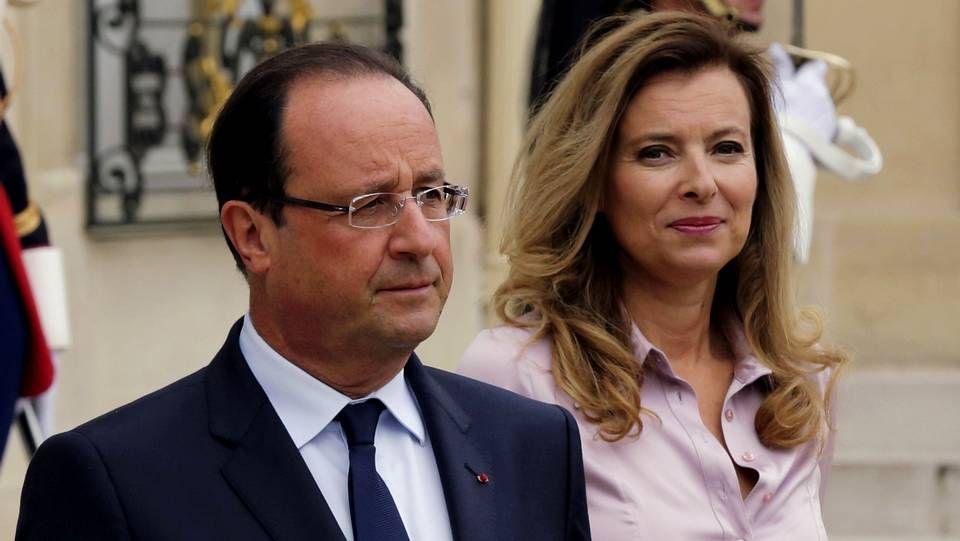Julie Gayet, «esperando por ti».Hollande y Valerie Trierweiler
