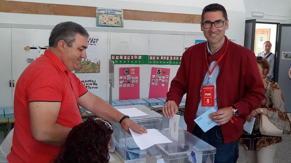ELECCIONES 26M EN MARÍN: VOTACIÓN DEL CANDIDATO A LA ALCALDÍA POR EL PSOE, MANUEL PAZOS