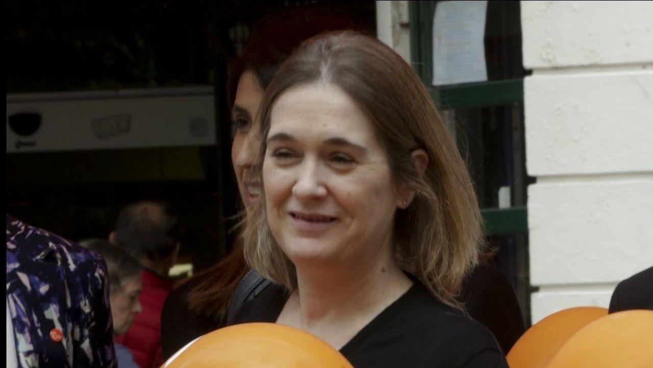 Marta Rivera, en la campaña del 28A en A Coruña