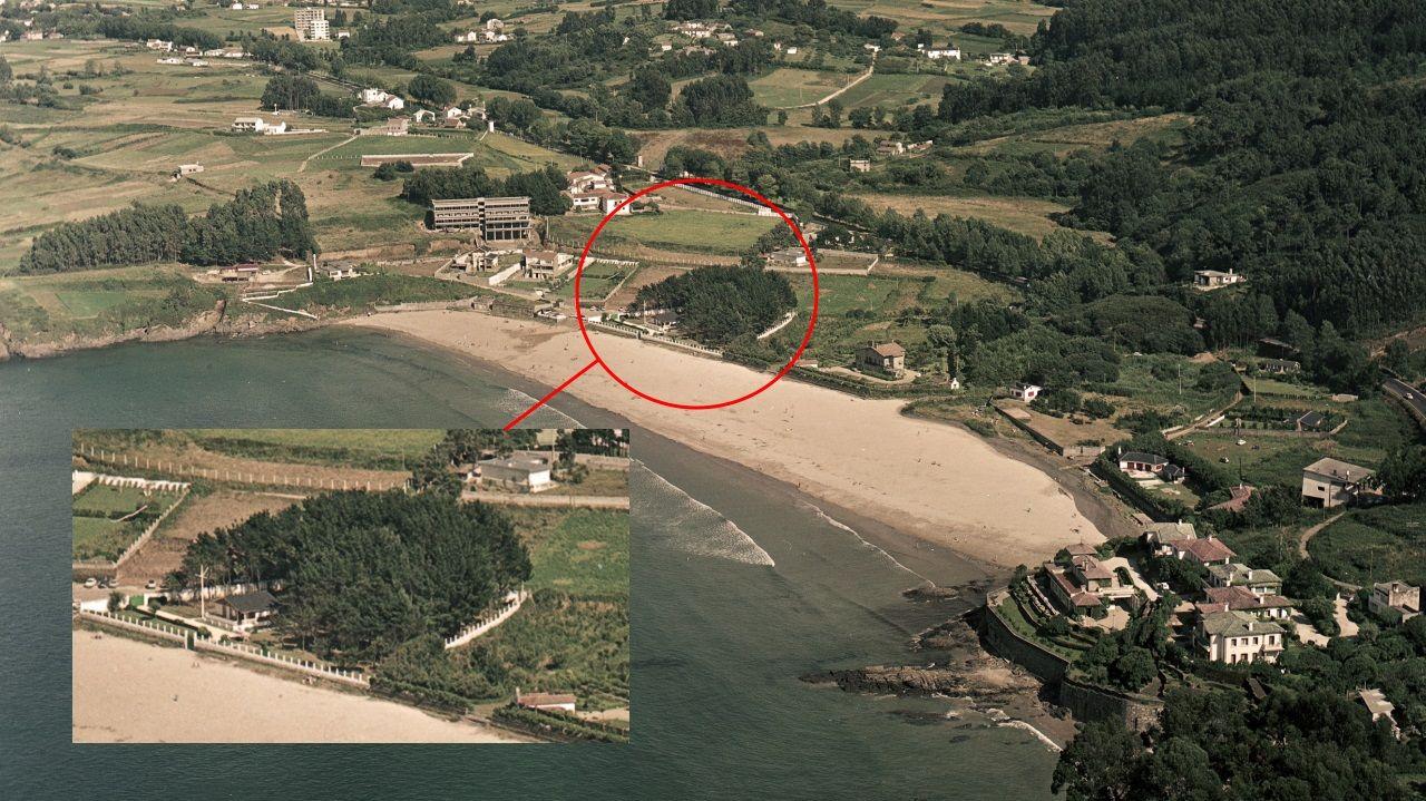 En esta finca a pie de playa Franco mandó construir una casa para disfrutar de jornadas familiares en el arenal de Bastiagueiro