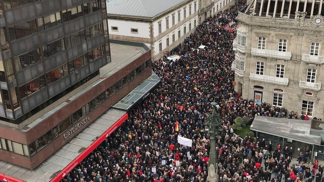 La protesta en Vigo volvió a ser multitudinaria