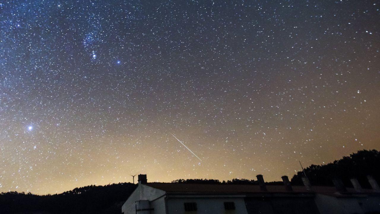 Lluvia de estrellas en Corme, en una imagen de archivo