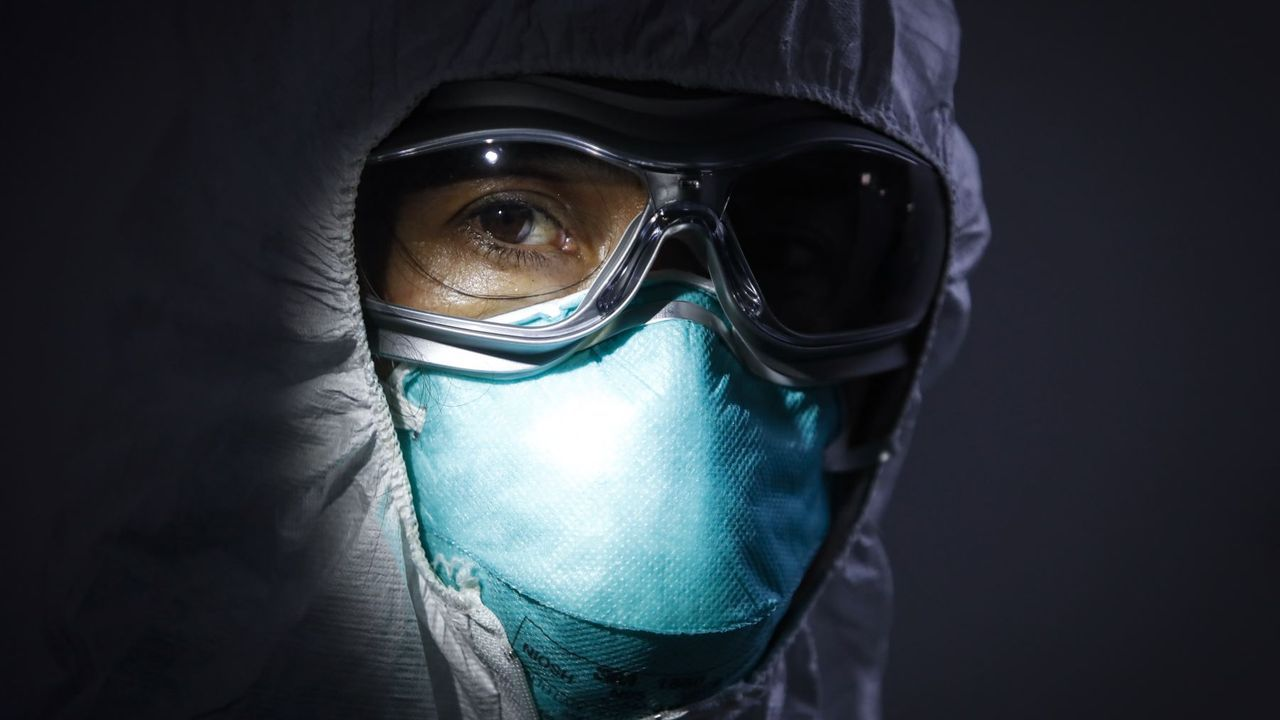 Recreación del coronavirus en 3D realizada por National Institutes of Health, una entidad federal estadounidense