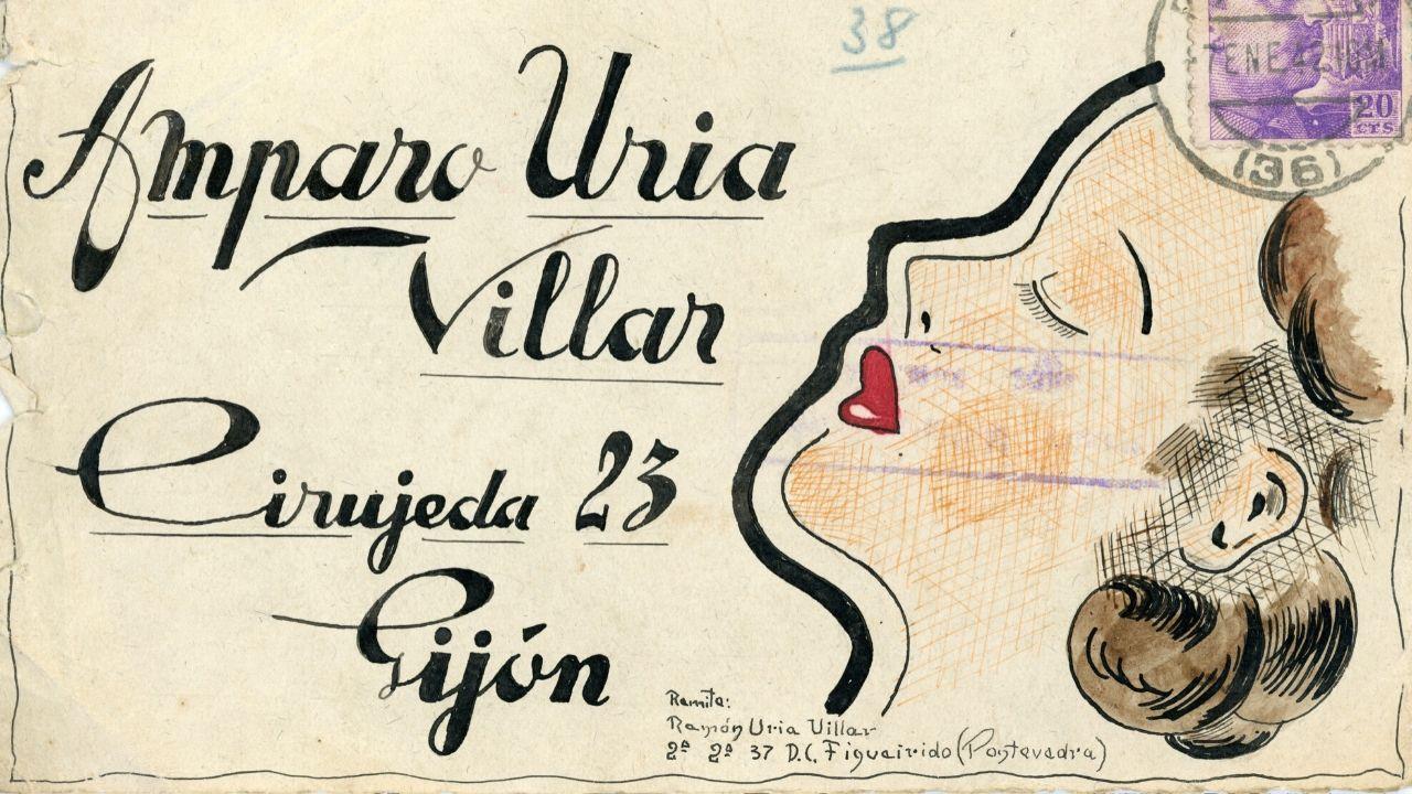 Las cartas dibujadasque Ramón Uría, preso en Galicia, envió a su familia en Gijón