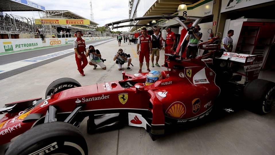 Fernando Alonso en la sesión de libres de las 6 horas de Spa