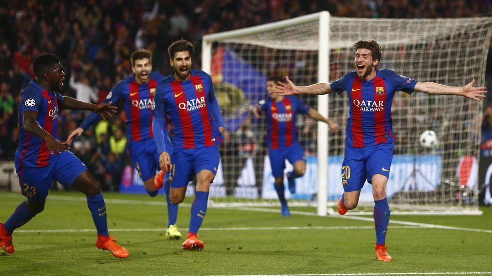La gesta del Barça ante el PSG, en fotos