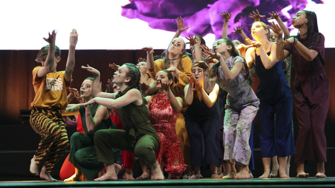 Una de las actuaciones de la Gala Intercentros del 2019