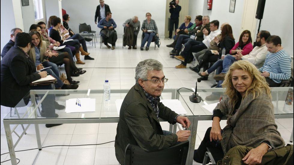 El grupo parlamentario del PP, hoy en O Hórreo