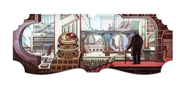 Jose Luis Borges doodle