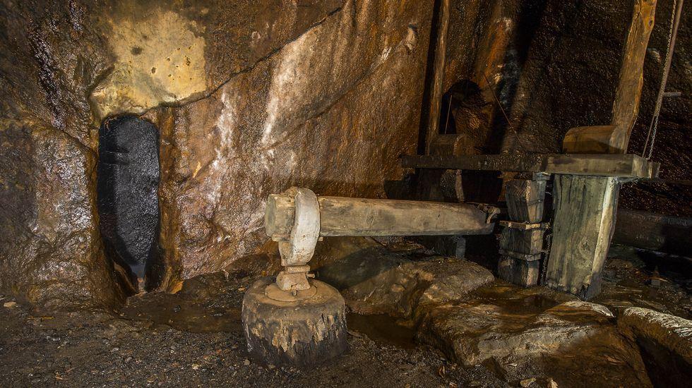 Mazo de la ferrería de Penacova, en Bóveda. Esta fundición artesanal de hierro fue construida en el siglo XVIII