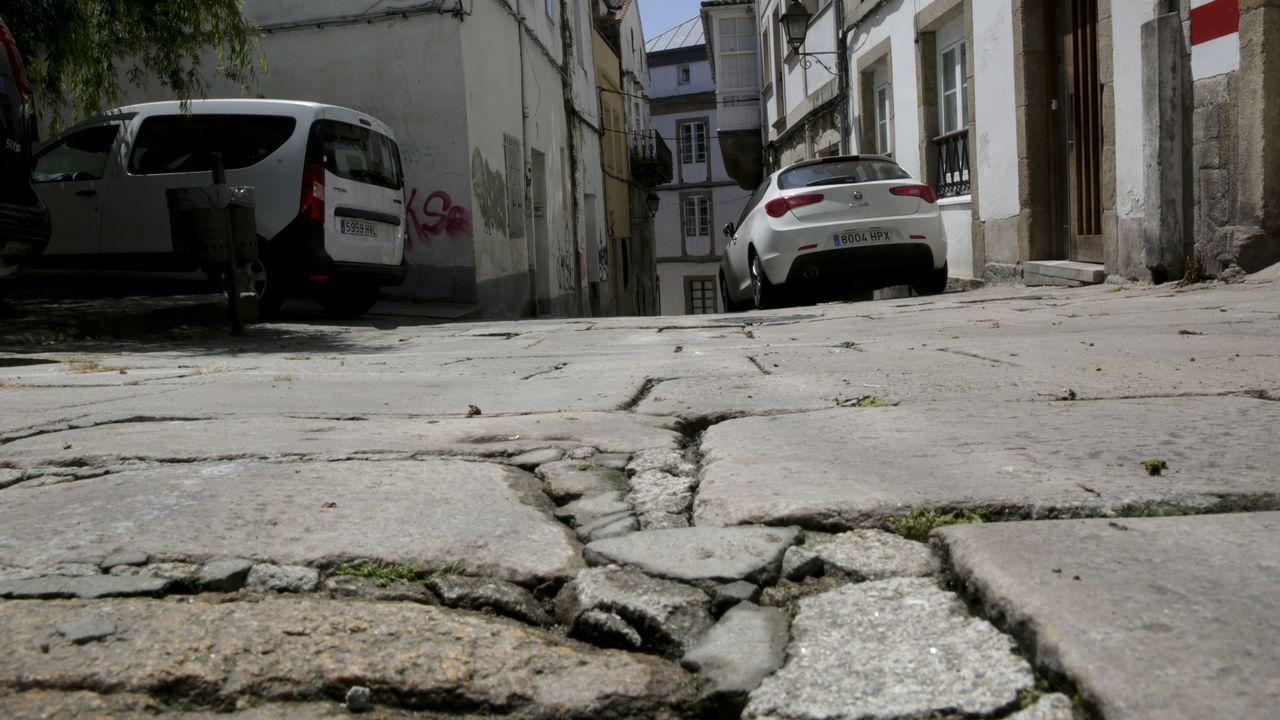 Calle Sinagoga donde Maite Mene, mujer que se cayó en la Ciudad Vieja y rompió las dos muñecas