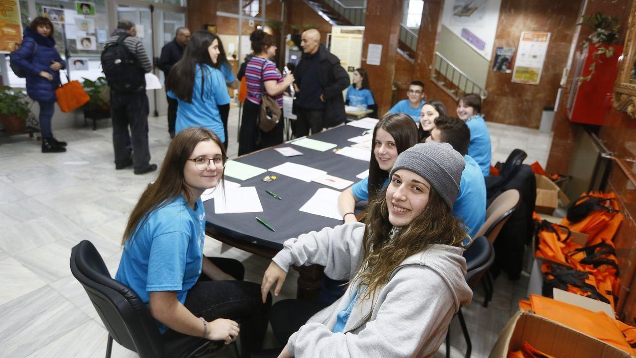 Alumnos del bachillerato de excelencia Stembach del IES María Casares de Oleiros. «No tienen por qué ser los más brillantes, son alumnos curiosos, inquietos y con ganas de saber», explica la directora.
