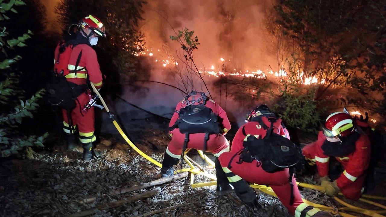 Incendio en Almonaster la Real (Huelva)
