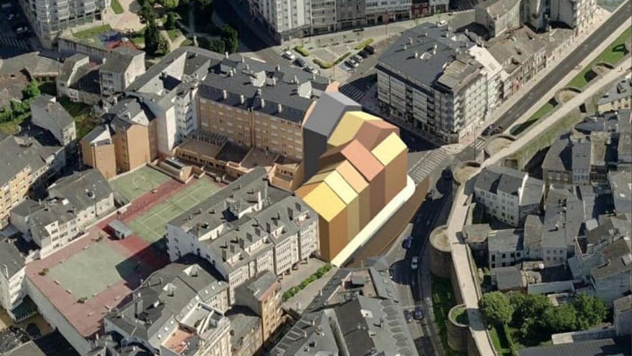 Proyecto de urbanización de la esquina de San Roque con la Ronda da Muralla