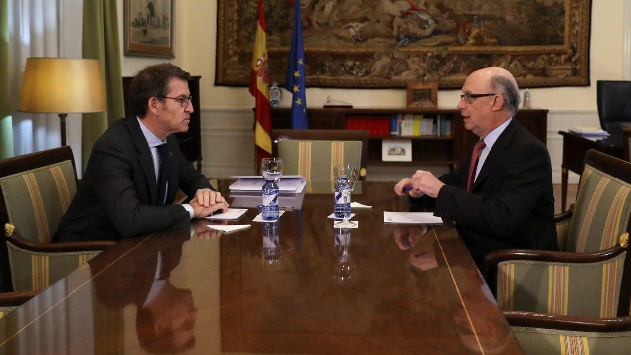 Así es el nuevo Gobierno de Feijoo.El presidente de la Xunta, Alberto Núñez Feijoo, durante la videoconferencia con el presidente del Gobierno, Pedro Sánchez