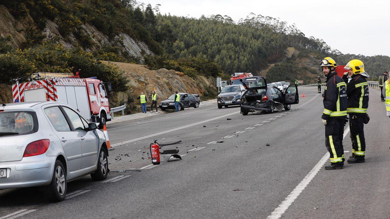 Accidente de tráfico en el corredor de Xove