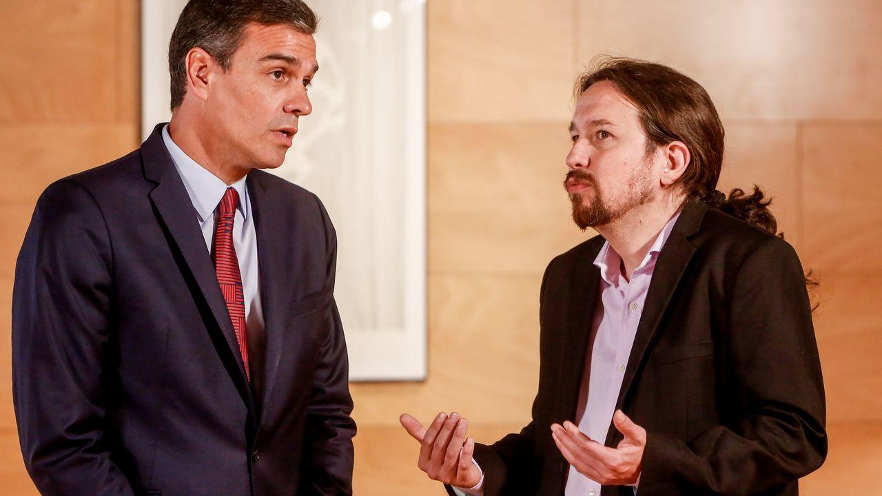 Pedro Sánchez y Pablo Iglesias durante su última reunión