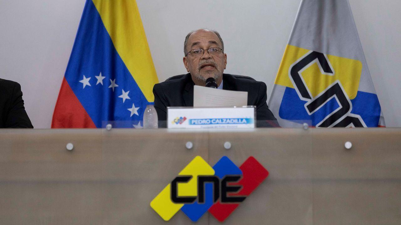 El presidente del Consejo Nacional Electoral (CNE) de Venezuela, Pedro Calzadilla