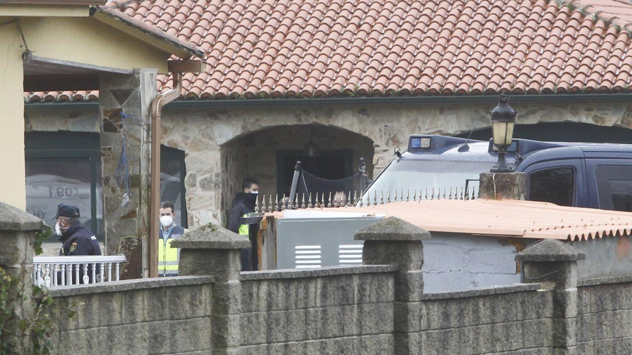 Imagen de la redada realizada en febrero en un asentamiento de Río do Pozo, en Narón