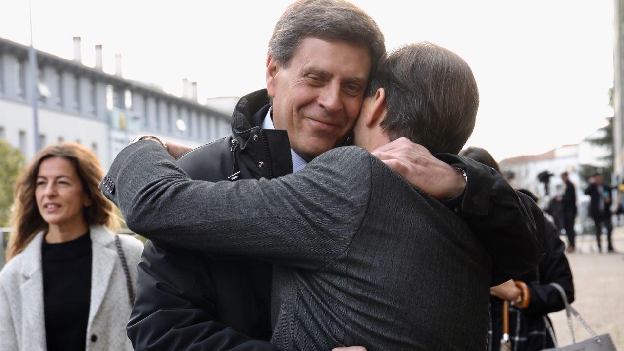 Juan Carlos Quer y sus abogados, tras el veredicto