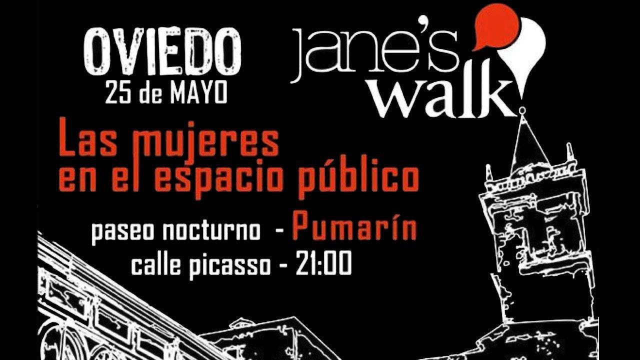 Los sidros echen la comedia en Lisboa.El cartel promocional del primer Paseo de Jane en Asturias