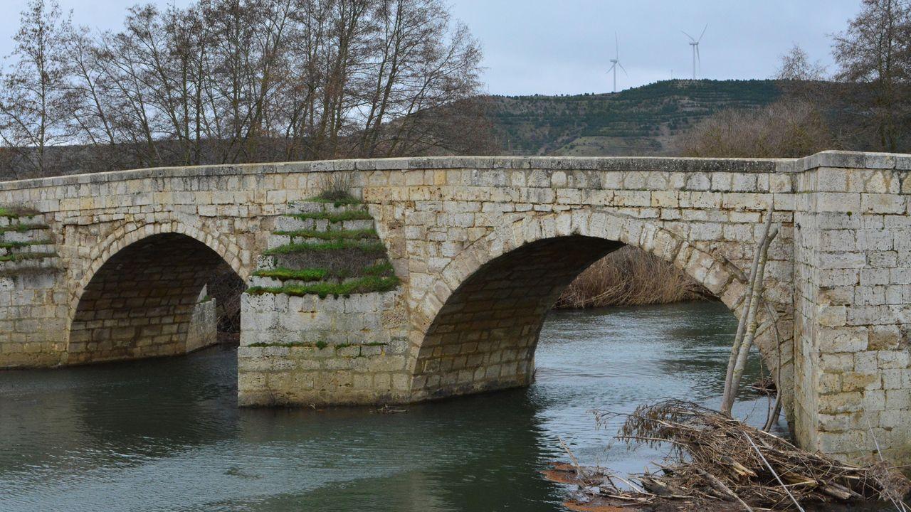 Puente sobre el río Carrión en el municipio de Husillos