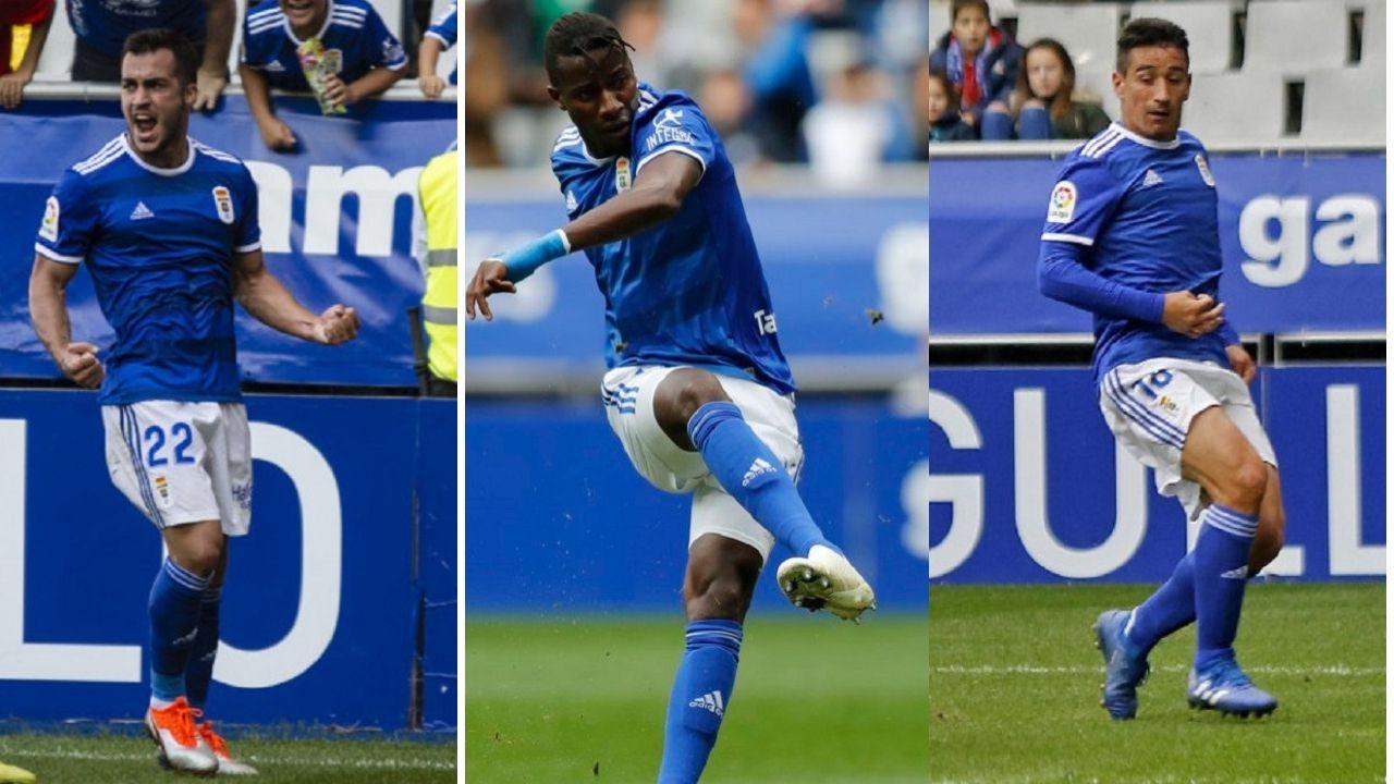 Gol Joselu Real Oviedo Elche Carlos Tartiere.Joselu, Ibra y Saúl Berjón