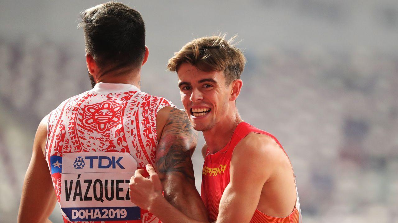 El gallego Adrián Ben, el sexto hombre más rápido en 800 metros.Pedro Esmoris, en una imagen de archivo
