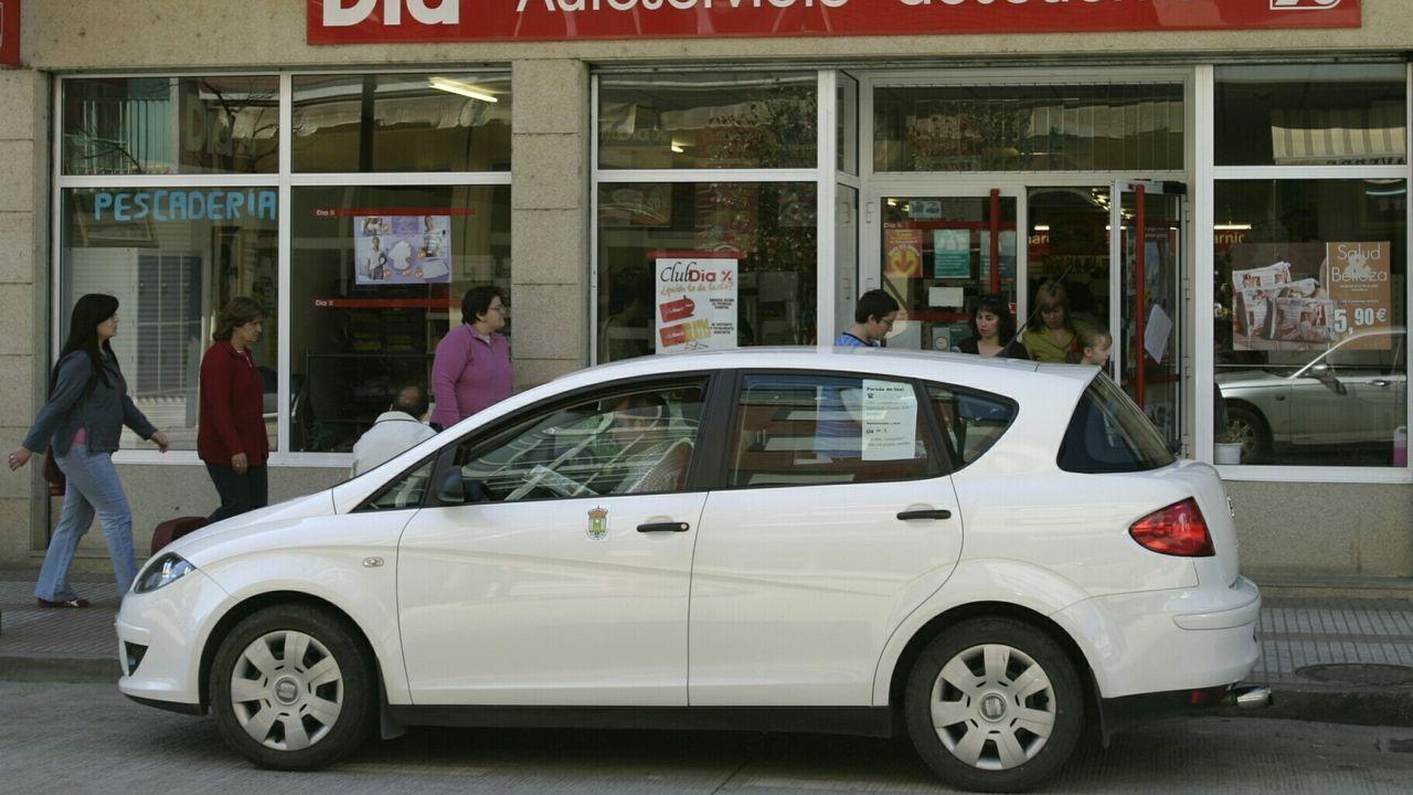 Un taxi en una calle de Quiroga, en una imagen de archivo
