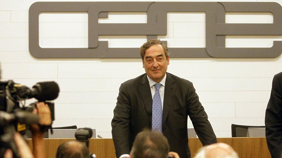 Pepe Álvarez, de UGT, en primer término, junto a Ignacio Fernández Toxo, de CC. OO.