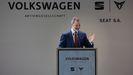 El rey Felipe VI, el pasado viernes durante su intervención en la visita a la fábrica de SEAT en Martorell (Barcelona)