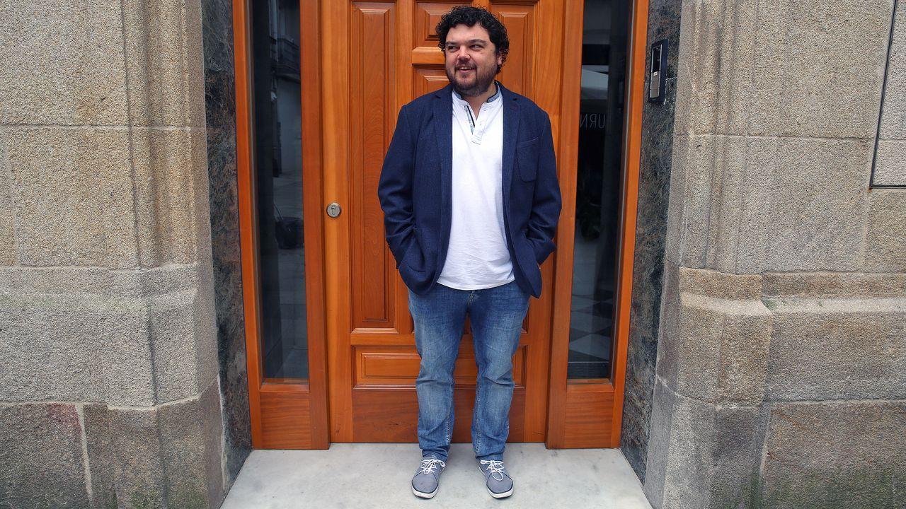 Luís Villares, en una de sus últimas intervenciones en el Parlamento