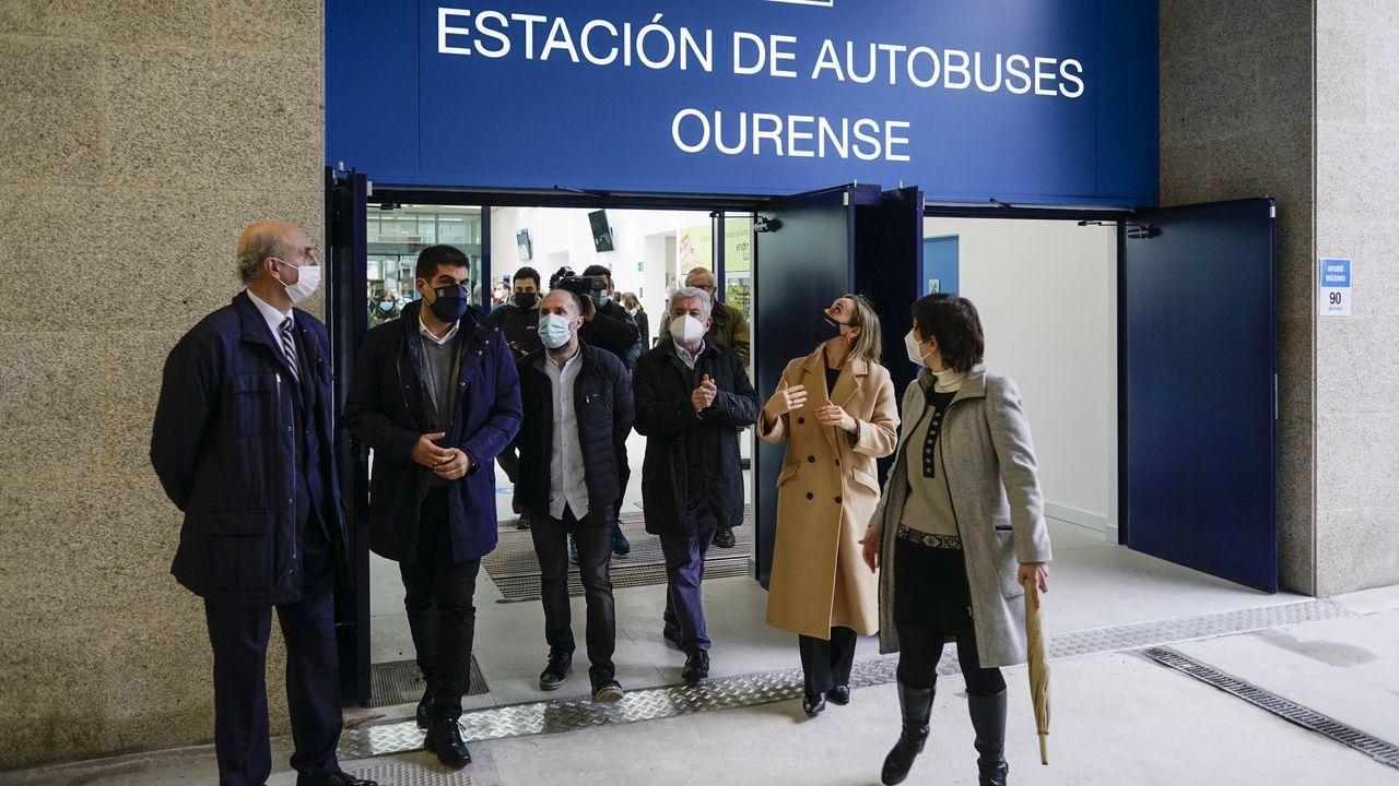 Visita institucional a la nueva terminal de buses de Ourense