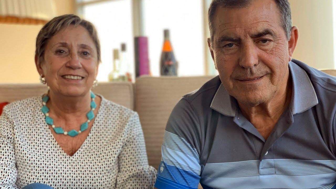 Marisa Rodríguez y Manuel Enrique Moro, en su confinamiento en Buenos Aires