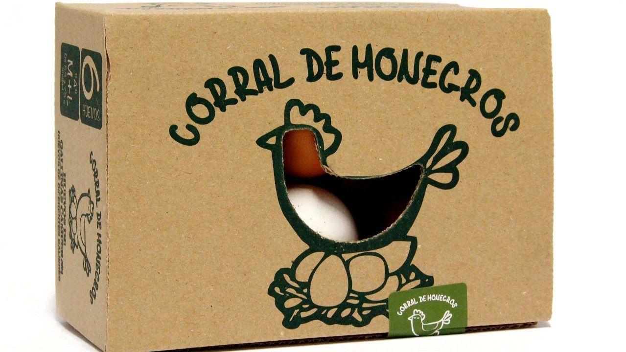 Imagen del envase actual de los huevos Corral de Monegros