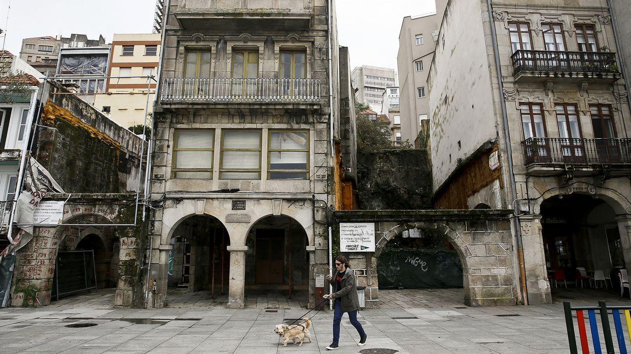 Estado ruinoso de una vivienda en Vigo