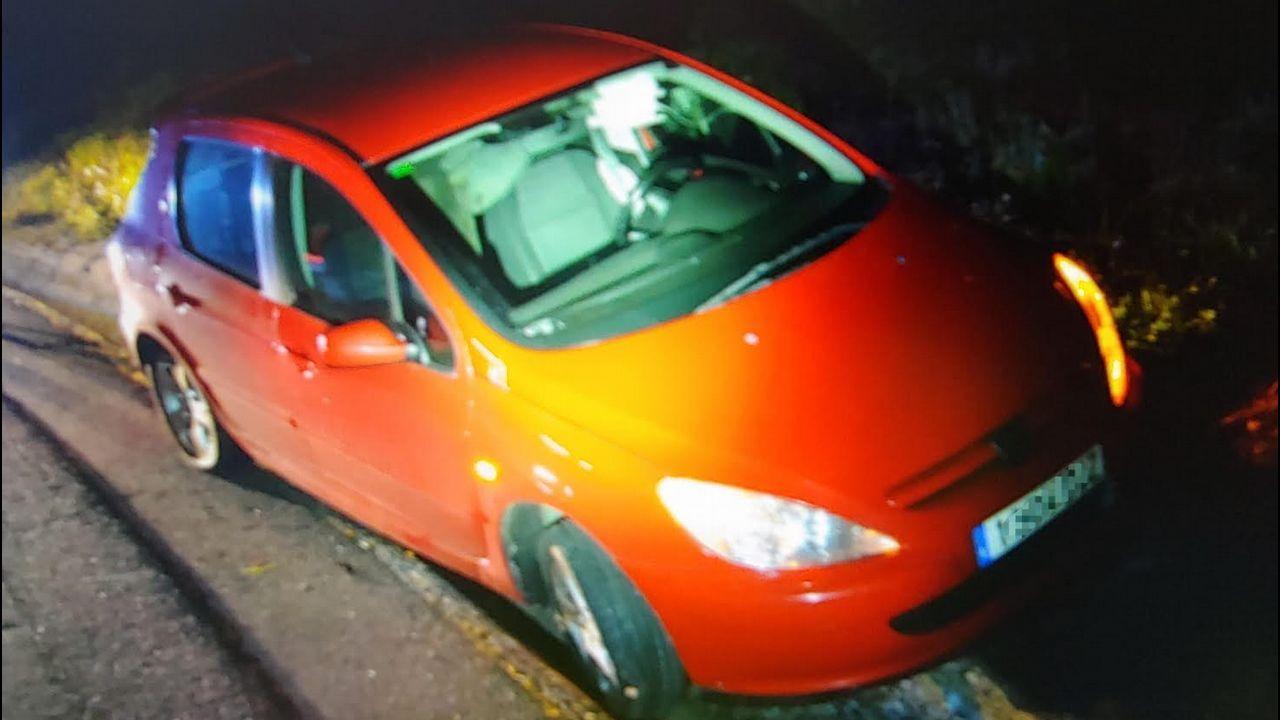 Estado en el que quedó el coche en el que perdió la vida un conductor en Pravia.Estado en el que quedó el coche en el que perdió la vida un conductor en Pravia