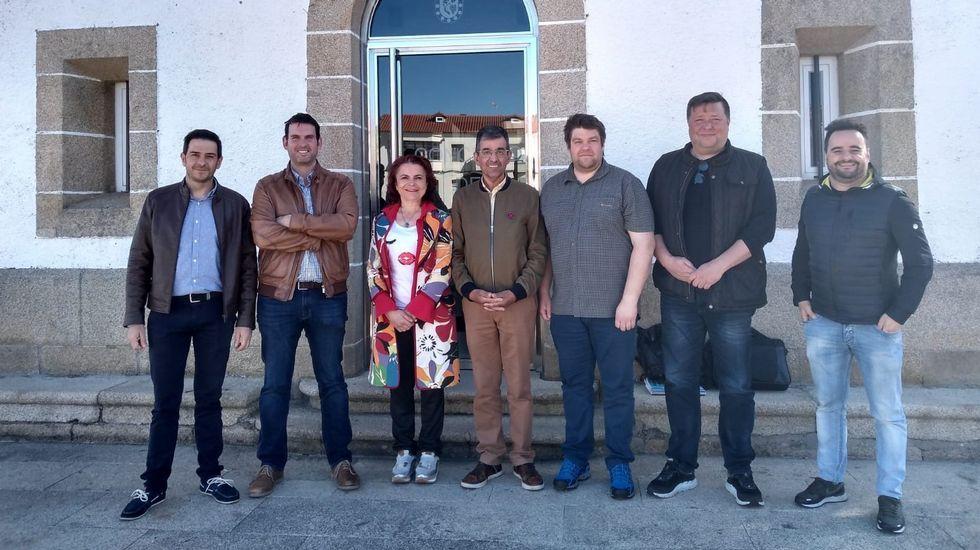 En el Ayuntamiento de Sober se ofreció esta mañana una recepción a los representantes del centro de formación profesional de Finlandia que colaborará con la escuela de hostelería de Rosende
