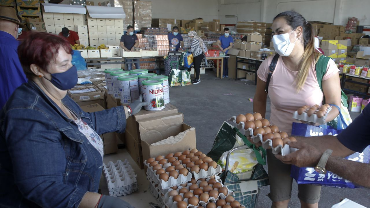 Taira se muestra agradecida por la ayuda que le está prestando el Banco de Alimentos