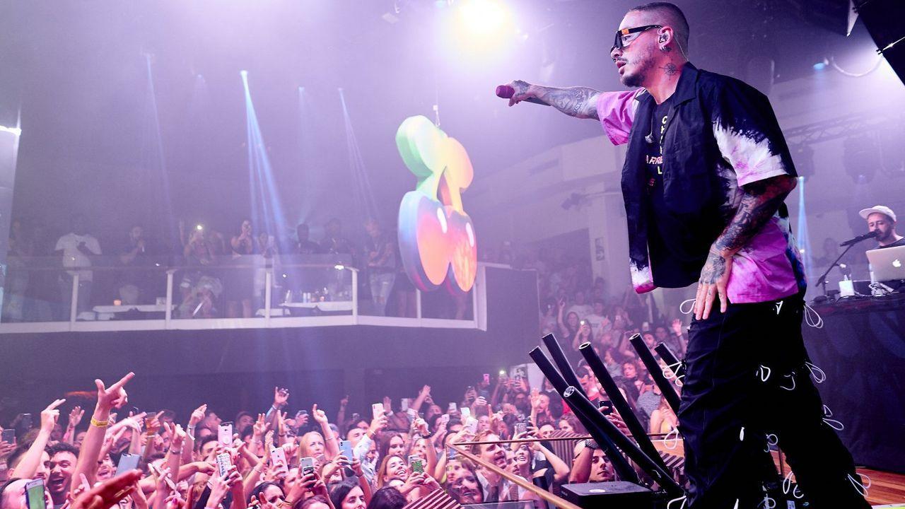 J Balvin en Pachá Ibiza en el 2019