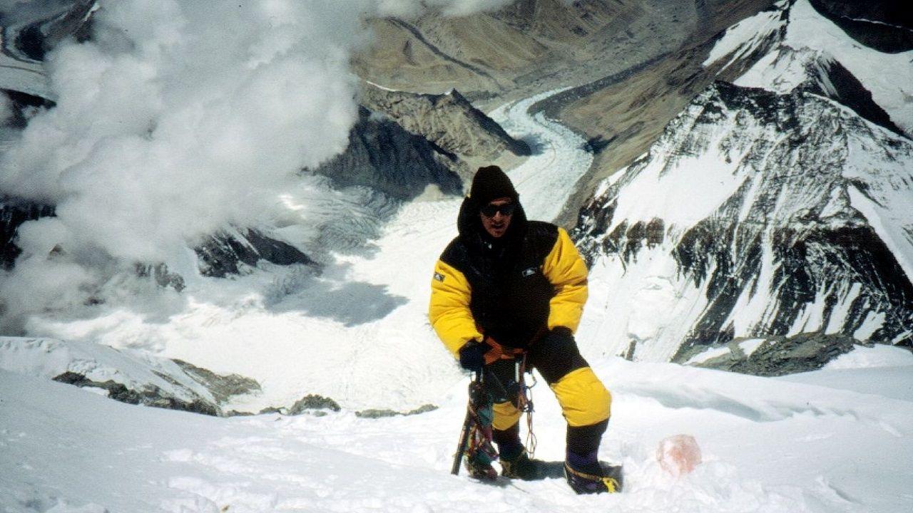 Chus Lago, en el Everest