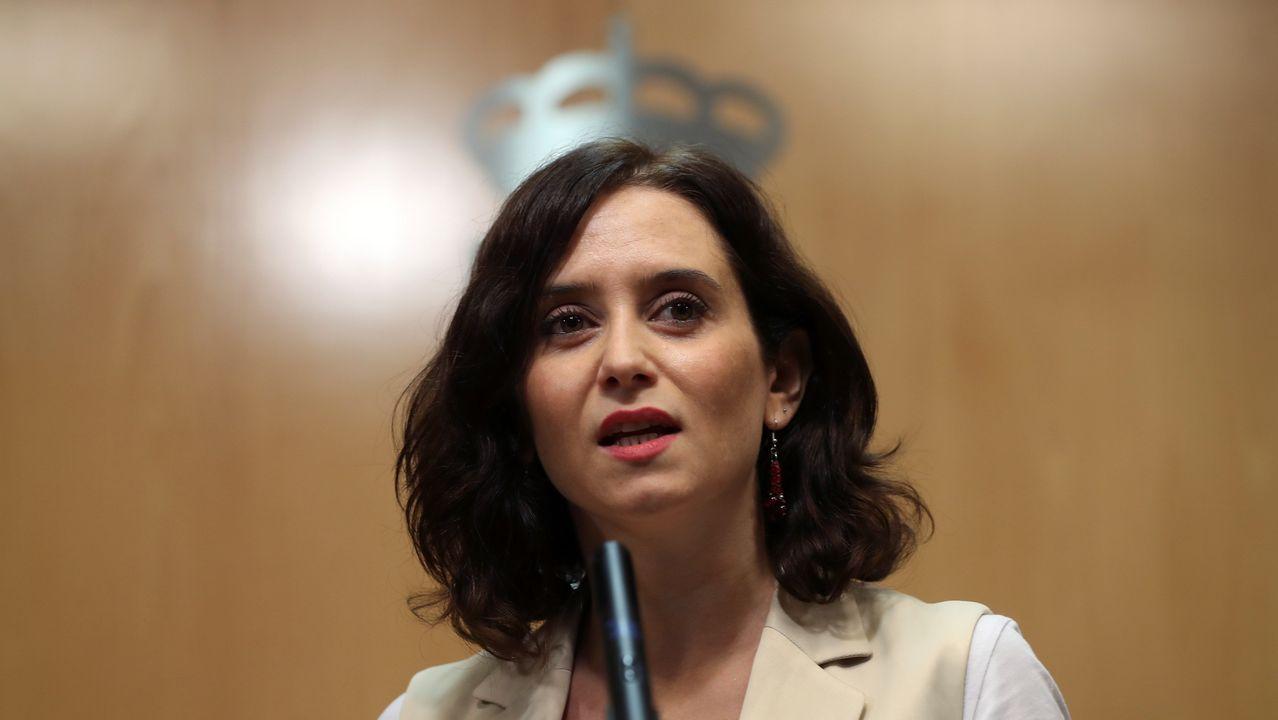 Díaz Ayuso: «Hoy empieza todo, desde luego para mí».Isabel Díaz Ayuso, candidata del PP a la presidencia de la Comunidad de Madrid