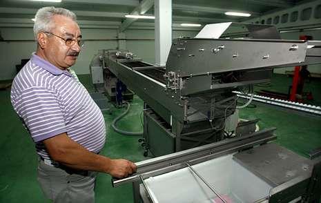 David Corral, en las instalaciones de la empresa de la que es gerente.