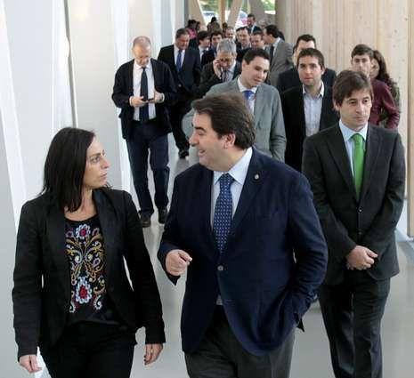 Negreira, ayer con los empresario de Smart City en el Ágora.