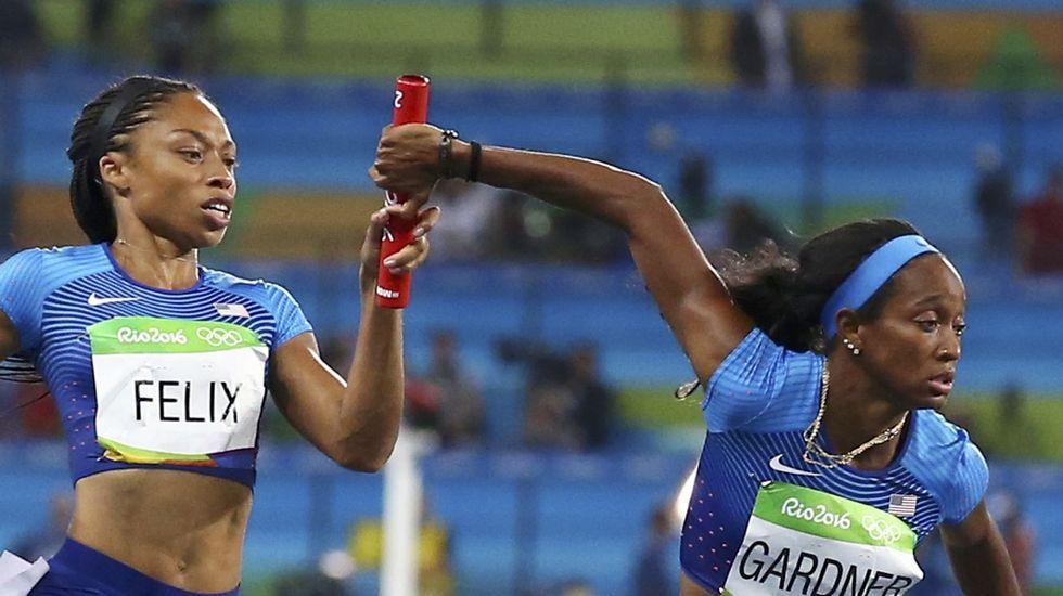 Allyson Felix cierra esta cita olímpica con tres medallas: oro en relevo 4x100 y 4x400 y plata en 400 metros