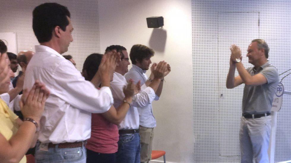 Barberá, Rudi y Fabra ya son nuevos senadores.Isabel Bonig, a la izquierda, en compañía de Rita Barberá, María Dolores de Cospedal y Alberto Fabra